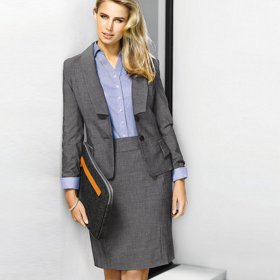 Ladies Rococo Suiting (Cropped Jacket & Feature Pleat Skirt)