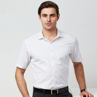 Model wears Short Sleeve in White