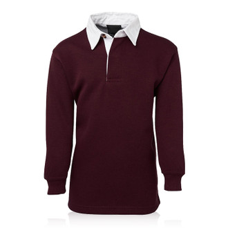 Maroon/White Rugby Top