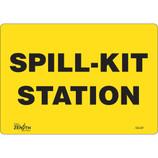 """""""Spill Kit Station"""" Sign - Aluminum 14"""" x 10"""""""