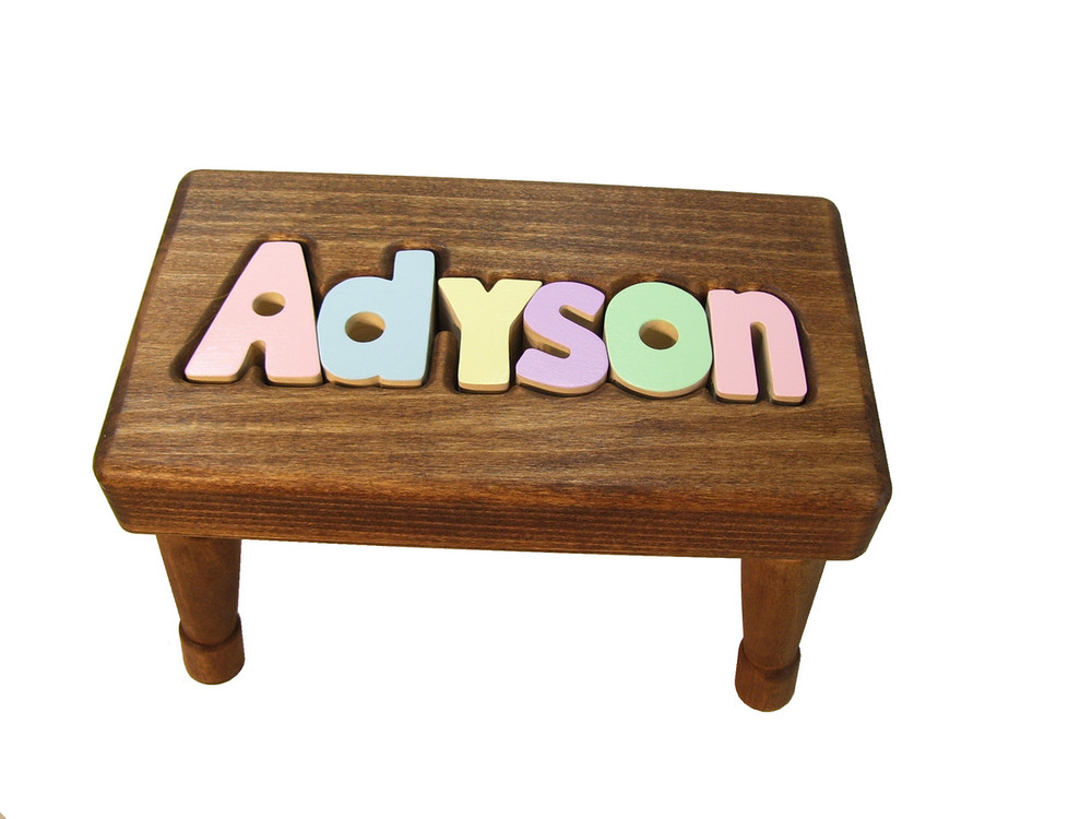 Swell Puzzle Name Stools Bench Gmtry Best Dining Table And Chair Ideas Images Gmtryco