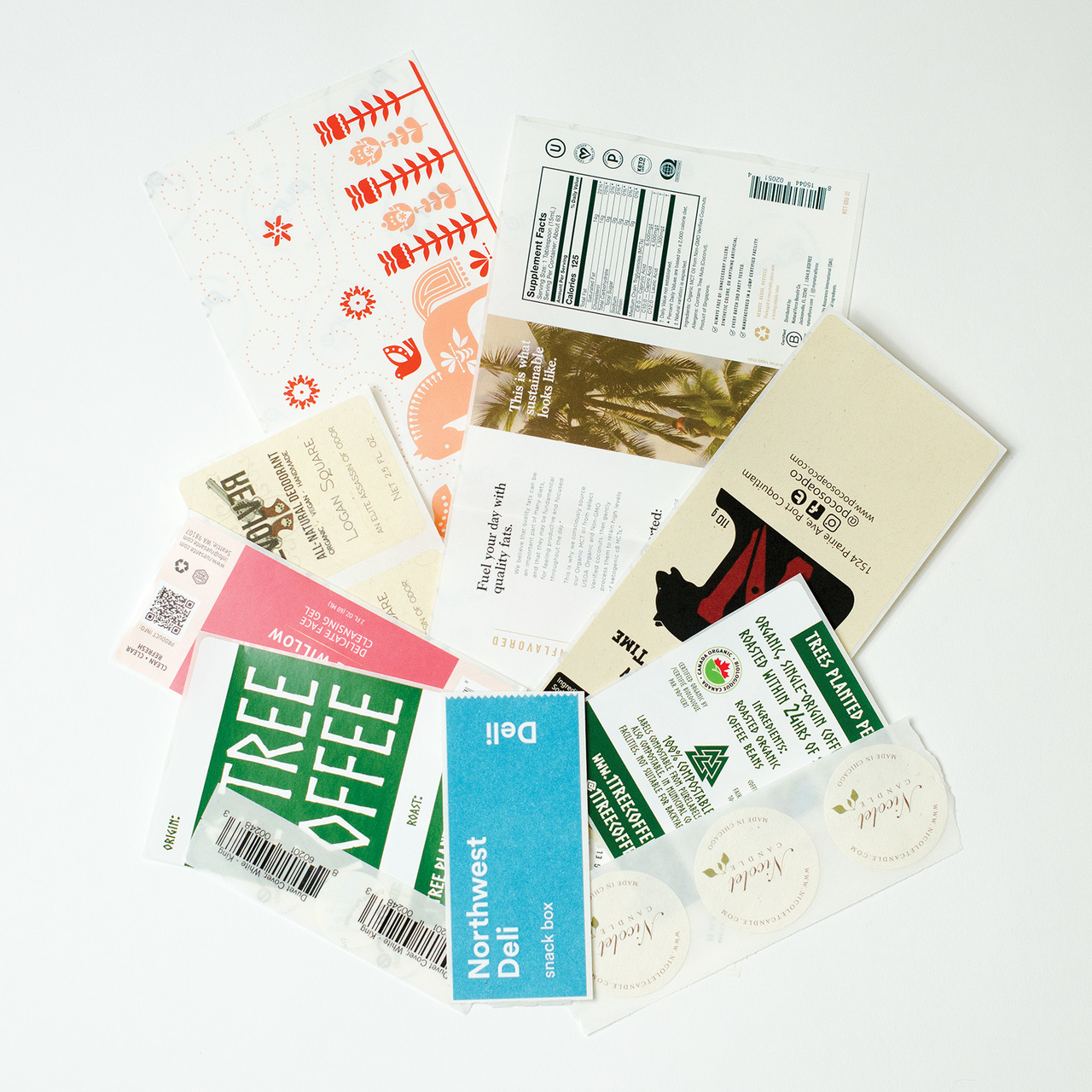 Custom Printed Biodegradable Labels