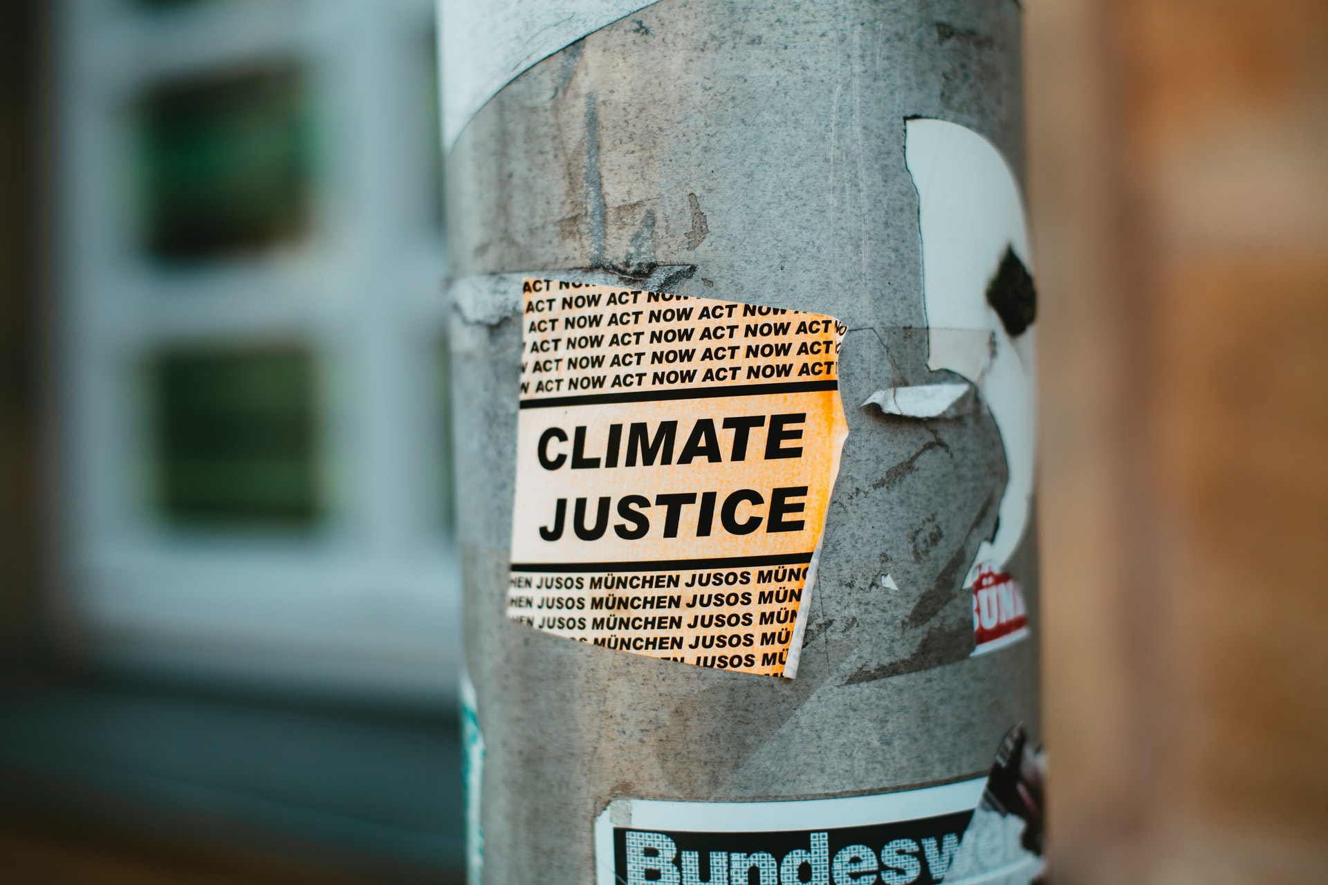 Climate Sticker on Lamppost