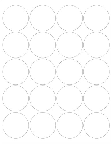 "2"" Circle Blank White Labels"