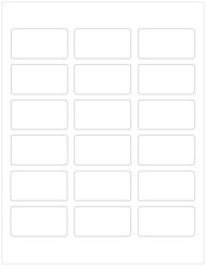 "2.375"" x 1.25"" Rectangle Labels, Blank"