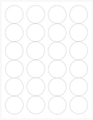 White Recycled or Compostable circle labels