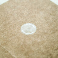 "1"" Circle, White Printed Clear closure tabs"