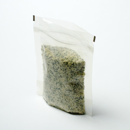 2oz clear compostable pouch