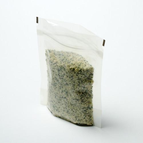 2oz transparent compostable pouch