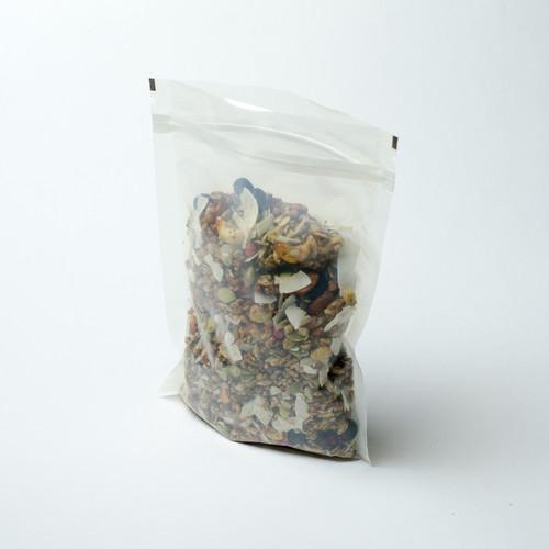 8oz transparent compostable pouch