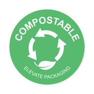 "1.1"" Compostable Round Compost Stickers"