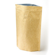 12oz Kraft Compostable Stand Up Pouch with Valve