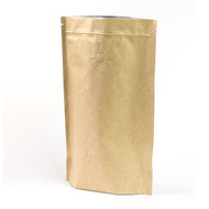16oz Kraft Compostable Stand Up Pouches with Valve