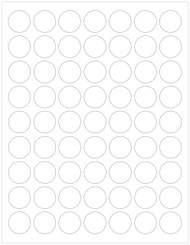 """1"""" Clear Circle Labels, Blank [Faulty]"""