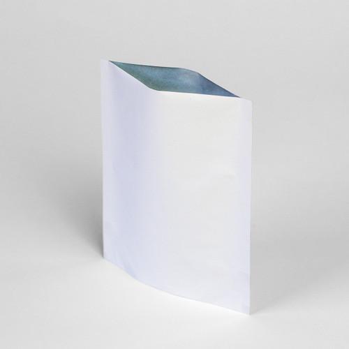 2oz white eco-friendly zipper pouch