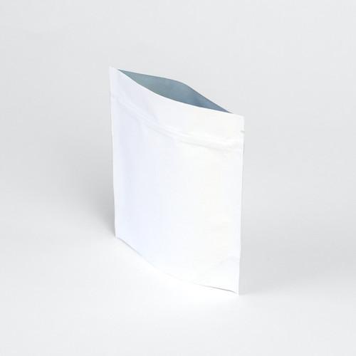 2oz white eco-friendly compostable zipper pouch