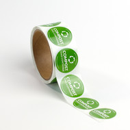 "1.5"" Compostable Container Stickers"