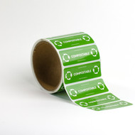 "3 x 1"" Compostable Tamper Seals"