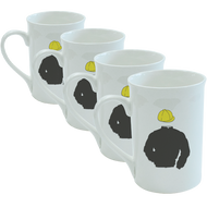 Racing Silks Bone China Mug - Set of 4 (create your own)