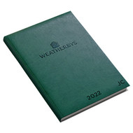 Weatherbys Initialled Desk Diary 2022