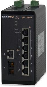 7-10/100 (4-PoE) + 1-100FXMMSC (sign_065-7408P1FXSCTB)