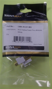 RCA Yellow Feed-Thru Module (sign_CMK-RCAY-WH)