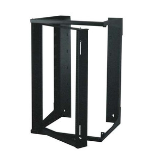 """20 RMS 19"" X 24""  BLACK WALLMOUNT, SWING RACK"" (questm_SR1935-20-02D)"
