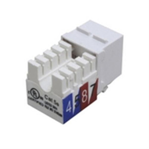 Keystone CAT5E Slim Line Jack; RJ45; 90 DEGREE 110 IDC; 568A/B; UL; BLUE (questt_NKJ-5502)