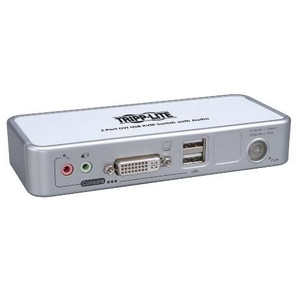 KVM Switch - 2-Port Compact DVI/USB KVM Switch w/Audio and Cable