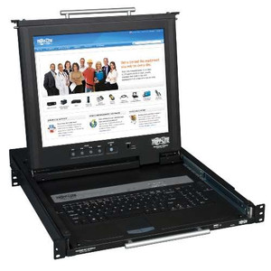"""1U Rack-Mount Console with 17-in. LCD, Dual Rail"" (tripp_B021-02R-17)"