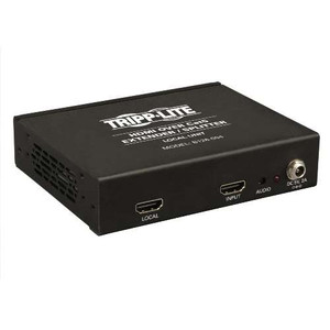 """4-Port HDMI over Cat5/Cat6 Extender/Splitter, Box-Style Transmitter for Video and Audio, 1080p @ 60 Hz"" (tripp_B126-004)"