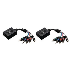 """Component Video with Stereo Audio over Cat5/Cat6 Extender Kit, In-Line Transmitter and Receiver"" (tripp_B136-101)"