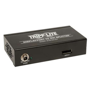 """2-Port DisplayPort to DVI Splitter, Multi-display adapter, 3840x1200 at 60Hz"" (tripp_B156-002-DVI)"