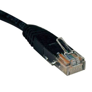 """Cat5e 350MHz Molded Patch Cable (RJ45 M/M) - Black, 6-ft."" (tripp_N002-006-BK)"