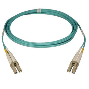 Multimode Fiber Optics 2-meter (6-ft.) 10Gb Aqua Duplex MMF 50/125 LSZH Patch Cable; LC/LC