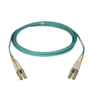 Multimode Fiber Optics 15-meter (50-ft.) 10Gb Aqua Duplex MMF 50/125 LSZH Patch Cable; LC/LC