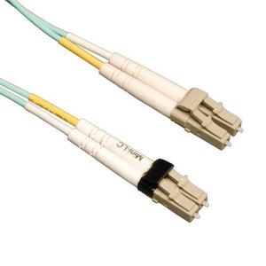"""10Gb Duplex Multimode 50/125 OM3 LSZH Fiber Patch Cable (Mini-LC / LC) - Aqua, 10M (33-ft.)"" (tripp_N836-10M)"