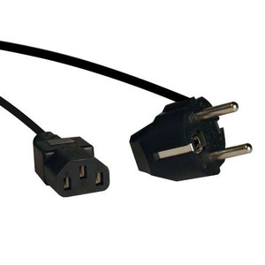 6ft IEC-320-C13 to SCHUKO CEE 7/7 Power Cable