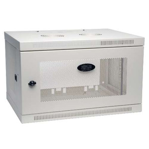 """SmartRack 6U Wall-Mount Standard-Depth Rack Enclosure Cabinet, White"" (tripp_SRW6UW)"