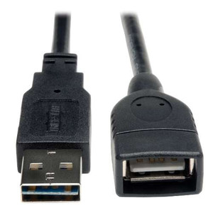 """Universal Reversible USB 2.0 Hi-Speed Extension Cable (Reversible A to A M/F), 10-ft."" (tripp_UR024-010)"