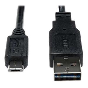 """Universal Reversible USB 2.0 Hi-Speed Cable, 28/24AWG (Reversible A to 5Pin Micro B M/M), 6-ft."" (tripp_UR050-006-24G)"
