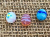 3 | Easter Egg Lampwork Glass Beads