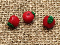 1   Red  Apple Glass Beads