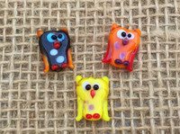 1 | Autumn Owl Fused Glass Beads