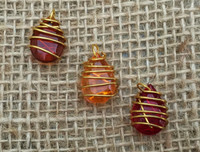 Fall Colors Wire Wrapped Beads