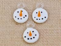 1 | Happy Snowman Lampwork Glass Charms