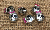 Little Girl Skull Large Hole Beads