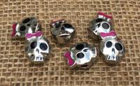 1 | Little Girl Skull Large Hole Beads