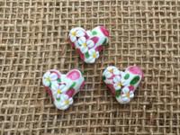 1 | Daisy Heart Lampwork Glass Beads