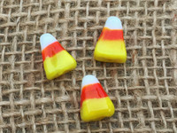 5 | Halloween Candy Corn Lampwork Glass Beads